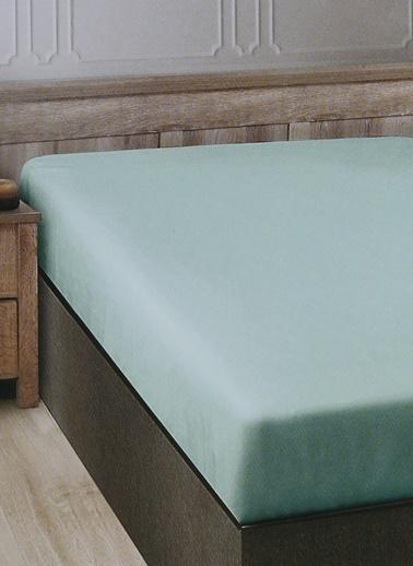 Boyner Evde Boyner Evde 160 x 200 cm Tek Kişilik Mint Fıtted Çarşaf Yeşil
